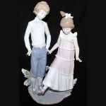 Lladro Figurine of Boy and Girl