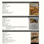 Sample Page of Book Collection Inventory Catalog