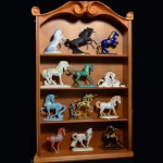Display Case of Horse Statue Art Collection
