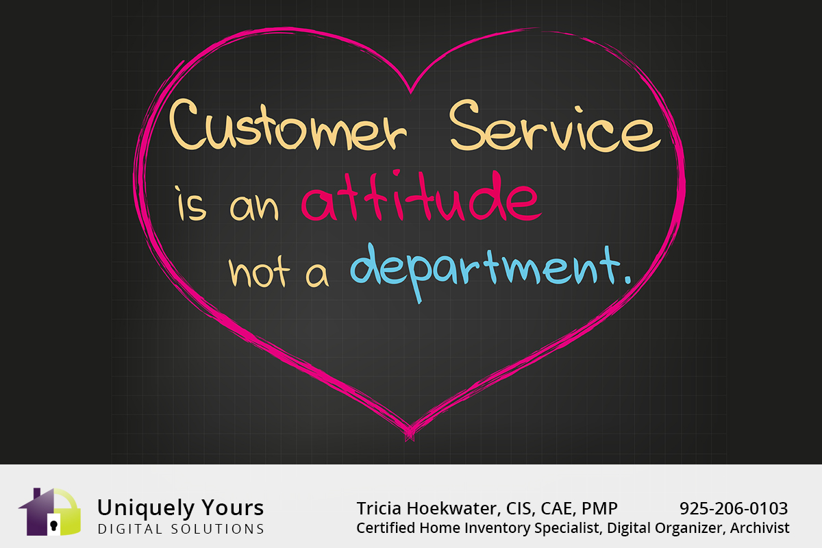 Customer Service is an attitude not a department