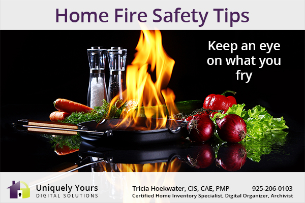 Home Fire Safety Tips - Frying Pan on Fire