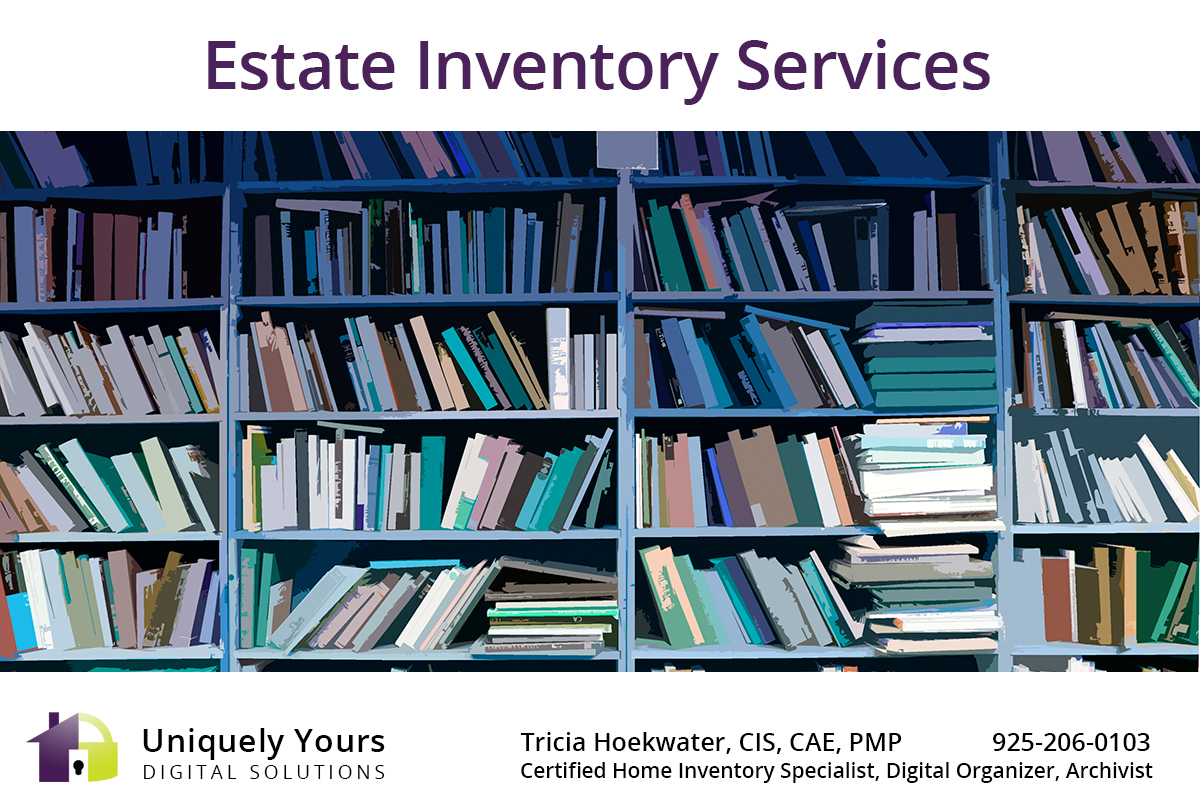 Library as part of Estate Inventory