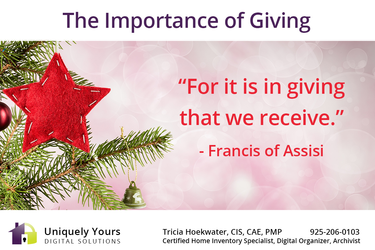 For it is in giving that we receive Francis of Assisi