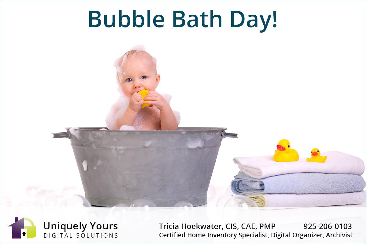 Baby in a Bubble Bath